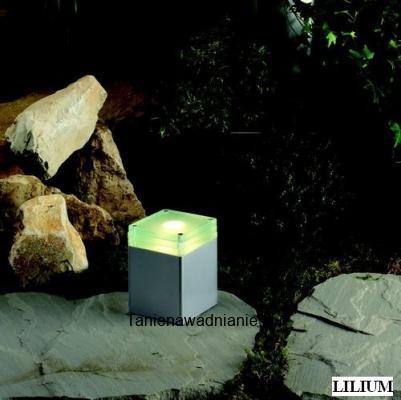 Lilium Led Słupek Aluminium Szary Ip44